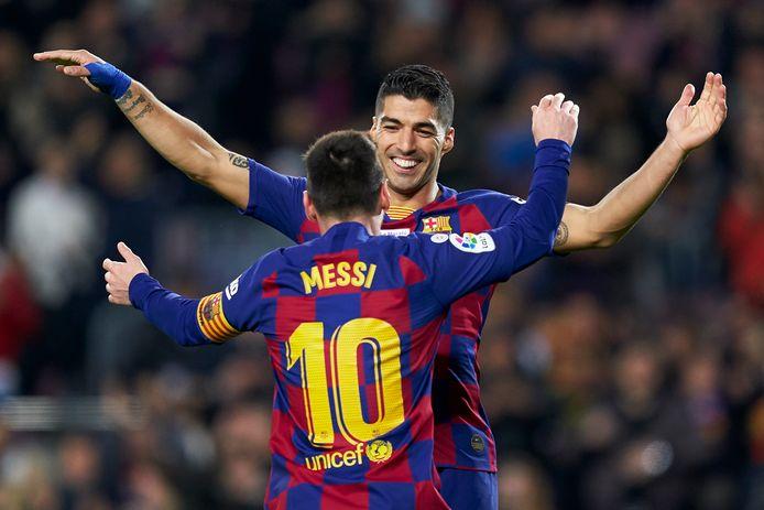 Messi en Suárez.