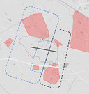 De stippellijnen geven de nieuwe start- en aanvliegroutes voor Historische Vlucht op vliegbasis Gilze-Rijen weer. Ze vliegen niet meer over de kernen.