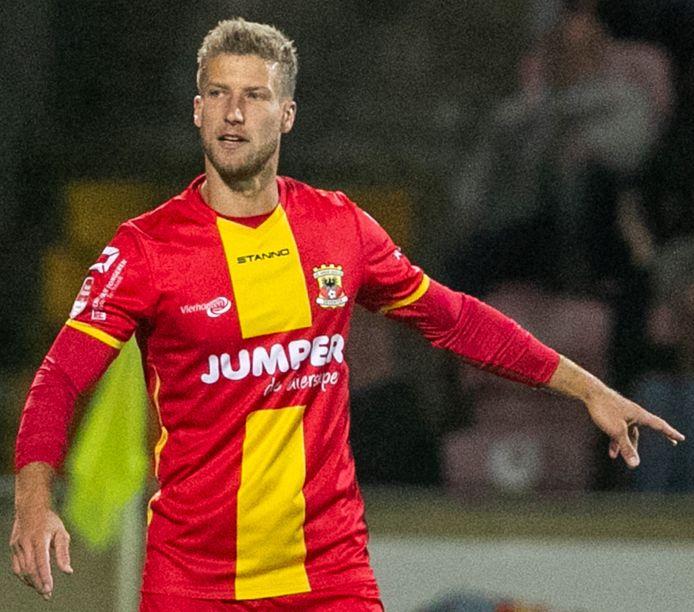 Wout Droste bij zijn rentree voor GA Eagles tegen Jong Ajax.
