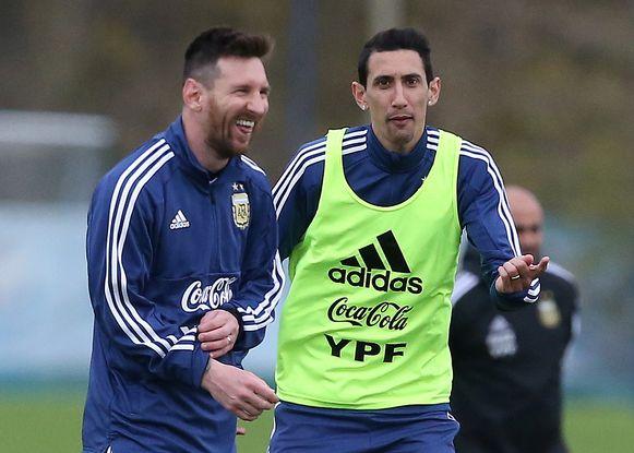 Lionel Messi en Angel Di María.