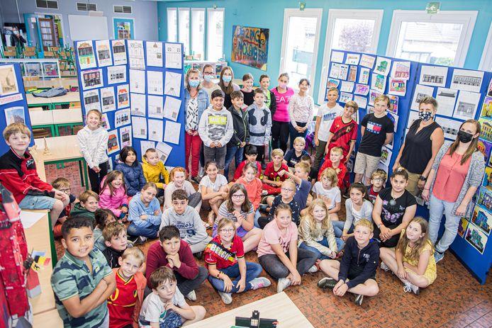 De 'erfgoedredders' van basisschool De Molenberg in Stekene.