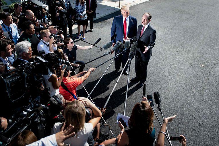 """Acosta: """"We leven nu in een andere wereld. De wereld behandelt slachtoffers heel, heel anders.""""  Beeld AFP"""