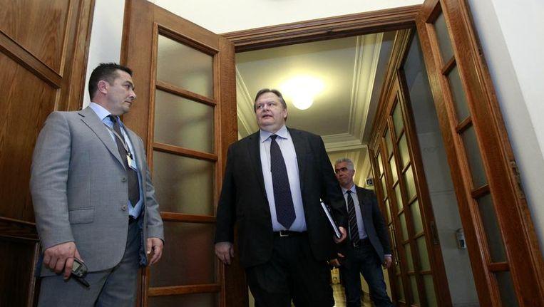 De Griekse minister van Financiën Evangelos Venizelos Beeld reuters