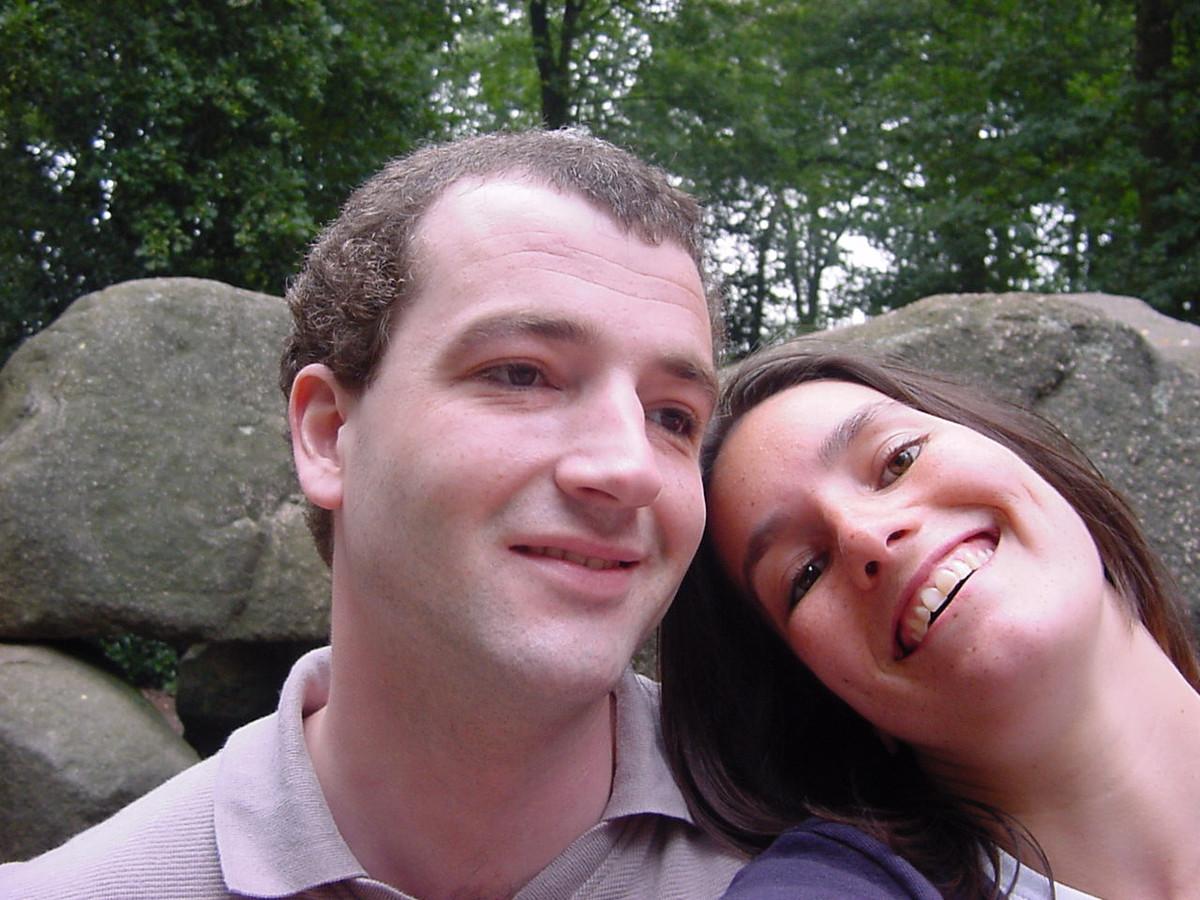 Rob op huwelijksreis in Drenthe met Saskia