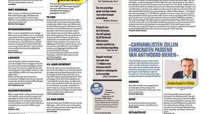 """Carnavalisten zullen Eurocraten passend van antwoord dienen"""