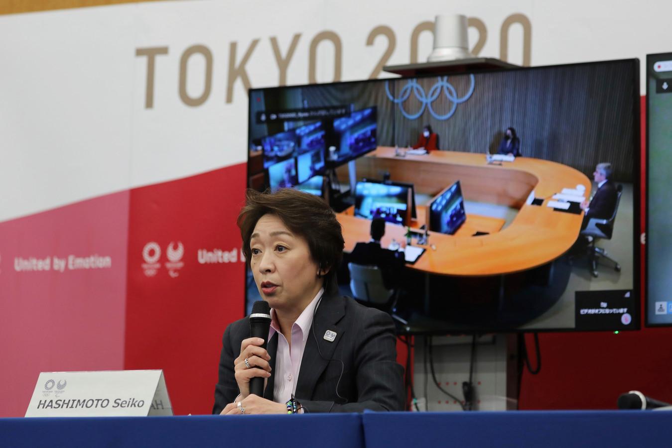 Seiko Hashimoto van het organisatiecomité van de Olympische Spelen.