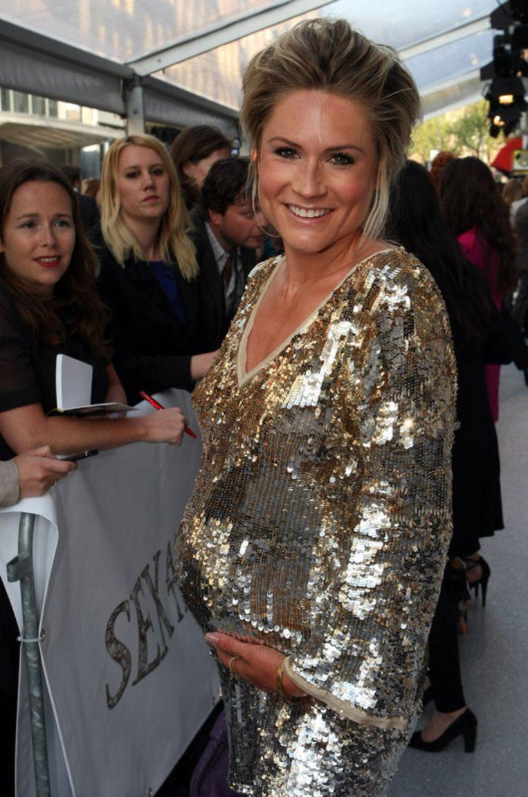 De zwangere Nikki Plessen. Foto ANP<br /> Beeld
