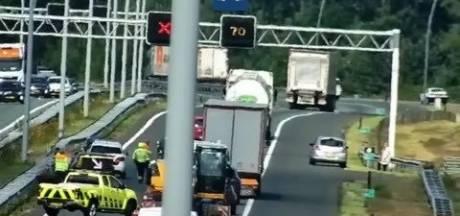 Ongeluk met motorrijder bij Eindhoven zorgt voor file op A2
