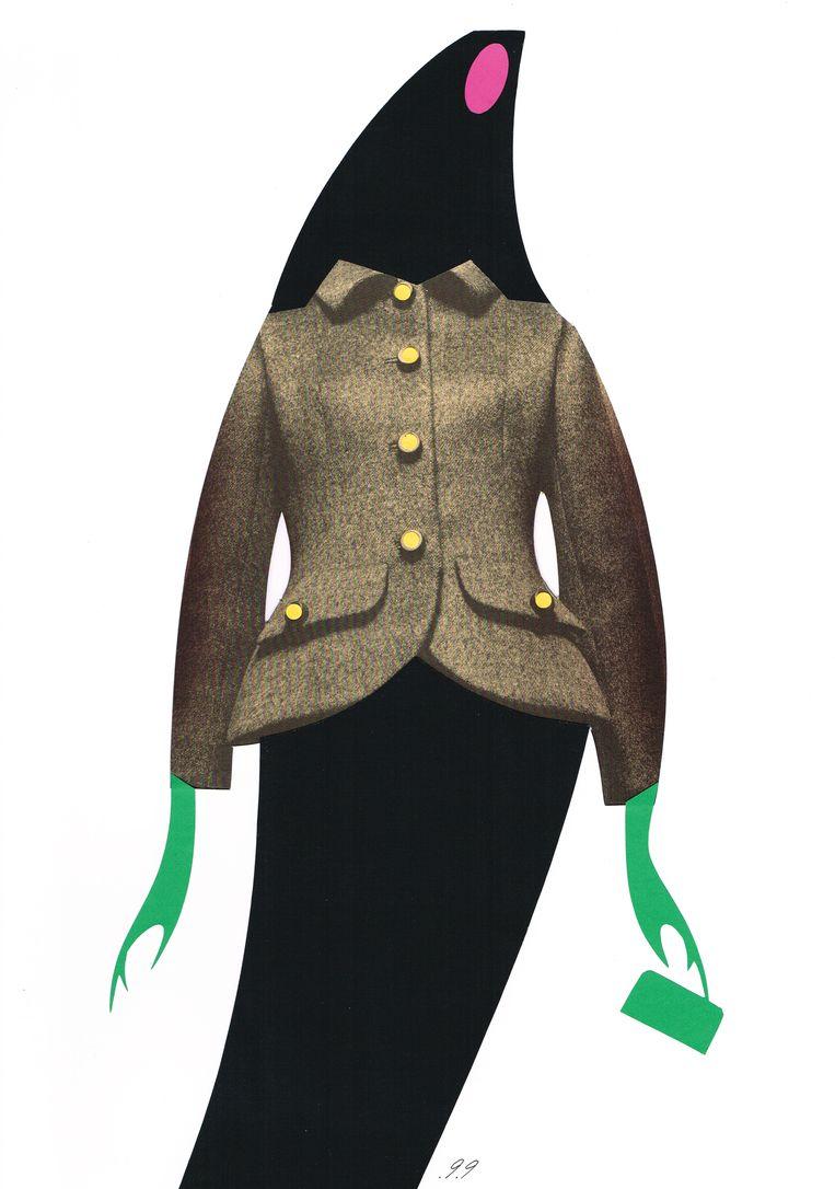 Dit werk vernoemde Piet Paris naar zijn moeder Sophie. Couturejasje van Balenciaga uit 1967. Over de handen deed de perfectionist 'een klein weekeinde'. Beeld Piet Paris