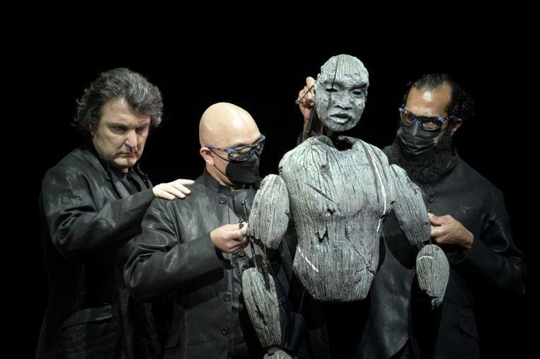 Scenefoto van Aida, opgevoerd in Parijs. Beeld Vincent Pontet / Opéra de Paris