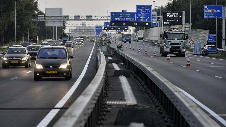 De laatste week van de werkzaamheden aan de A10-West is ingegaan Beeld anp