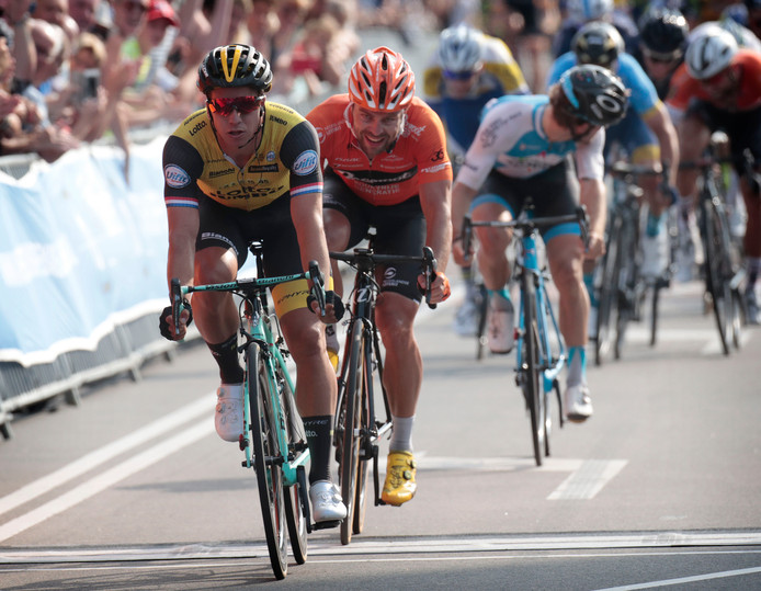 Veenendaal - Netherlands - wielrennen - cycling - cyclisme - radsport - Dylan GROENEWEGEN (Netherlands / Team Lotto NL - Jumbo)  - Wouter WIPPERT (Netherlands / Team Roompot Nederlandse Loterij) pictured during Veenendaal - Veenendaal 2018 - photo Carla Vos/Cor Vos © 2018