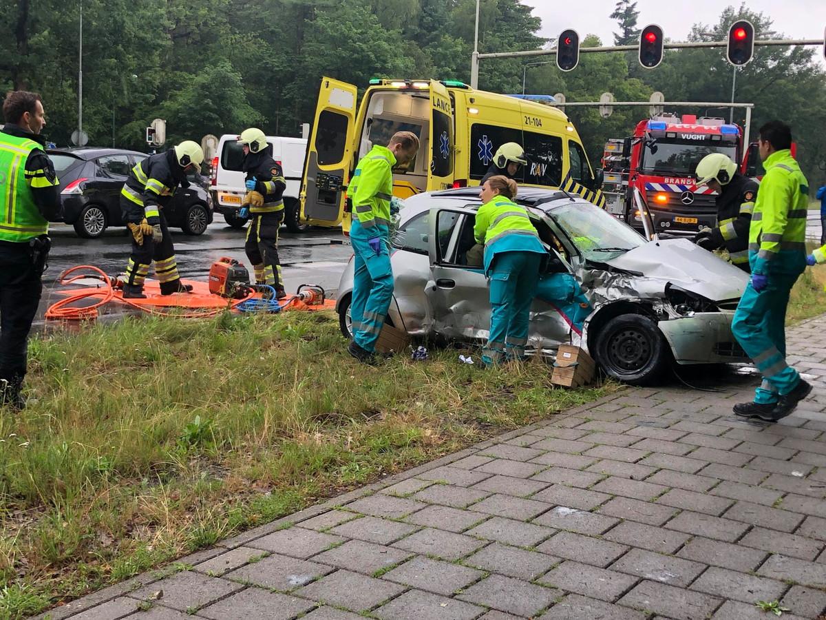 Een ongeval op de N65 bij Vught.