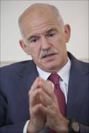 De Griekse eerste minister George Papandreou.