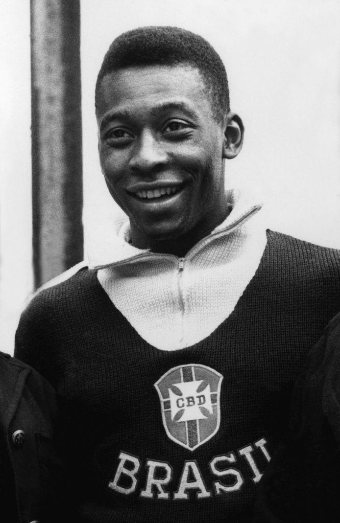 Pelé in Viña del Mar tijdens het WK 1962.