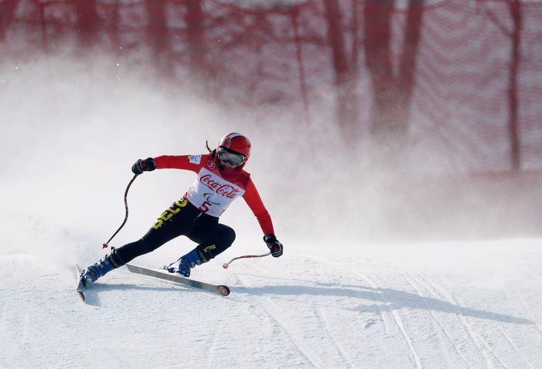 Skiester Eléonor Sana. Beeld REUTERS
