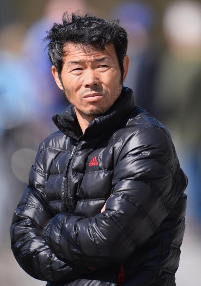 Son Woong-jung, vader van Son Heung-min. Beeld Gerrit-Jan Ek