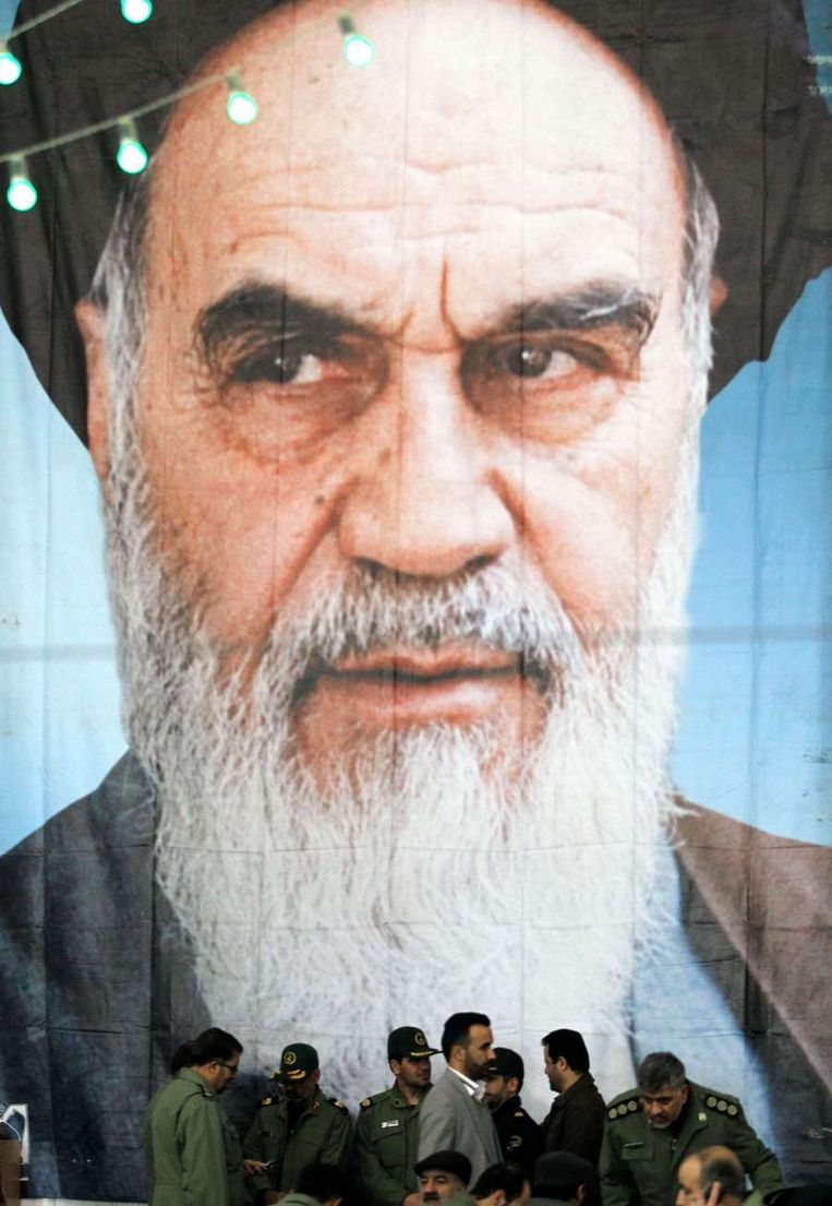 Ayatollah Khomeini. Beeld afp