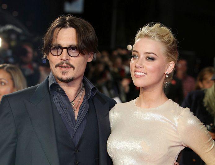 Johnny Depp et Amber Heard, à Londres, en novembre 2011.