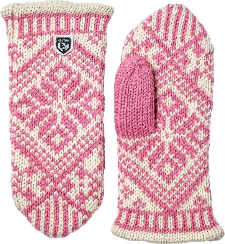 Noorse roze wanten van Hestra, euro 49 Beeld