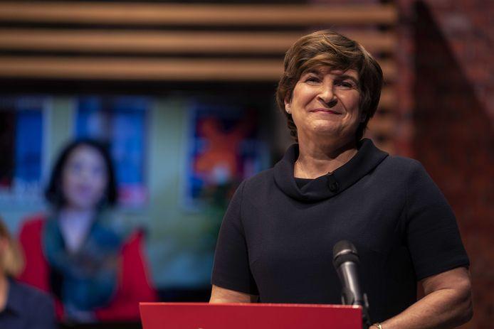 Lijsttrekker Lilianne Ploumen tijdens De Lijsttrekkers