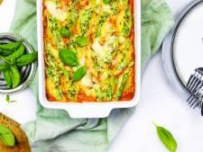 Wat Eten We Vandaag: Gevulde pastaschelpen met spinazie en zalm