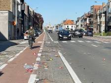 Supporters Club Brugge laten berg afval achter na doortocht op Gistelsesteenweg en beschadigen aanhangwagen