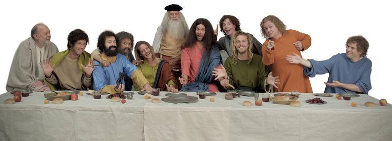 De 'making of' van Het Laatste Avondmaal door Leonardo da Vinci in de aflevering van 'Oh mijn hemel' over het christendom. Beeld RV