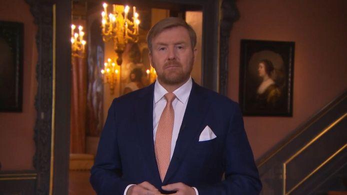 Koning Willem-Alexander sprak jongeren rechtstreeks toe.