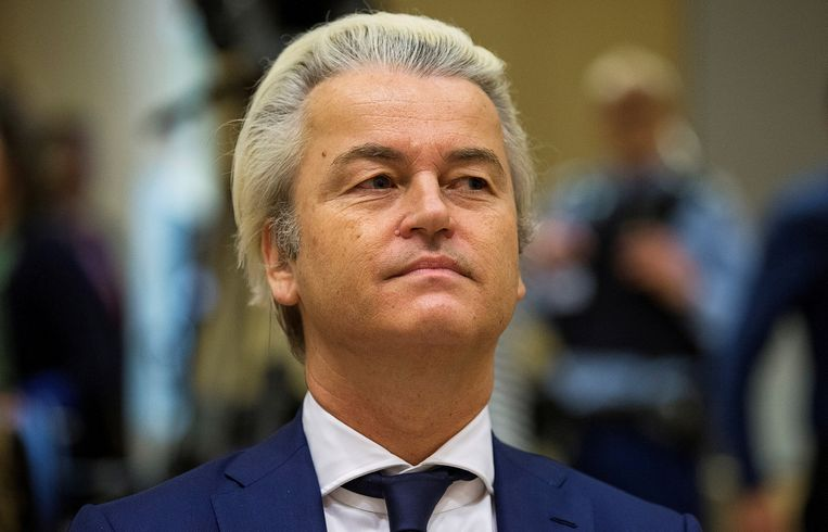 Geert Wilders in de rechtszaal. Beeld REUTERS