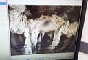 Zo ziet een verstopping in het riool er uit op beeld van een inspectiecamera.