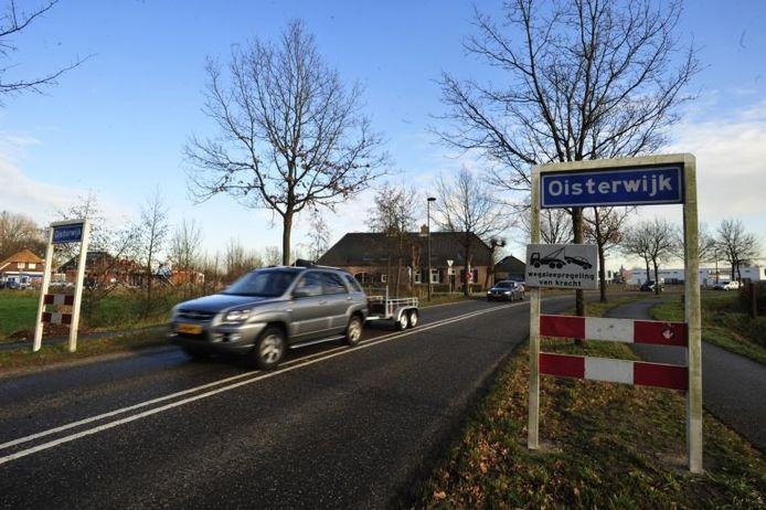 De plek van de bebouwde komborden van Oisterwijk, midden in Heukelom.