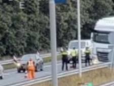 Kans op file door ongeluk vrachtwagen op A1