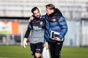 Harald Wapenaar met zijn ex-pupil Kostas Lamprou, die nu bij RKC Waalwijk keept.