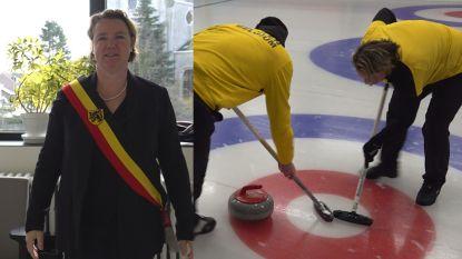 VIDEO. Vlaamse burgemeester trekt naar WK Curling