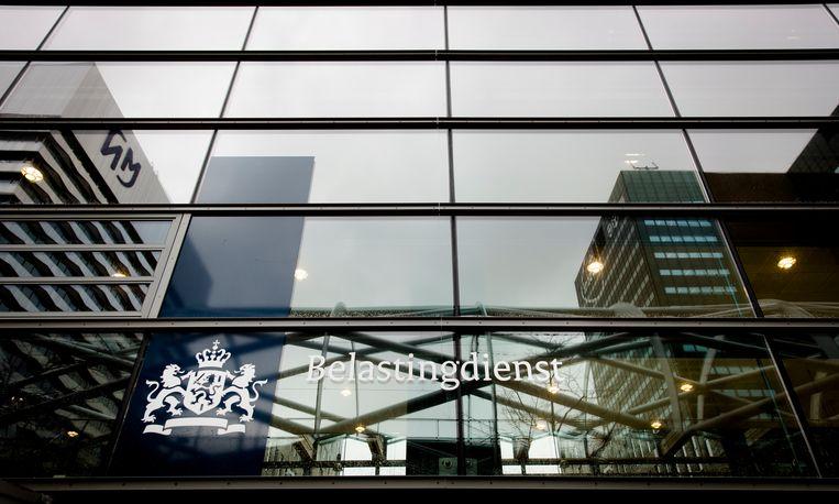 Het exterieur van het kantoor van de Belastingdienst in Den Haag. Beeld ANP