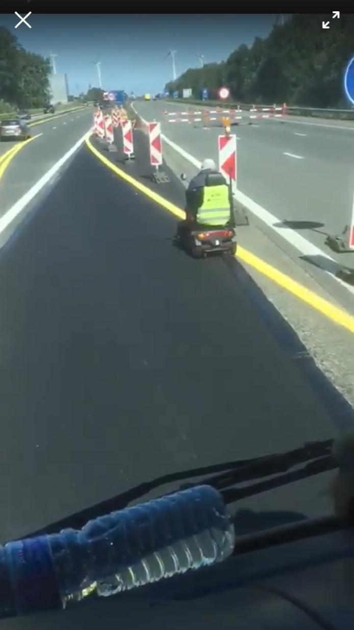 L'homme en fauteuil roulant a été repéré par d'autres automobilistes