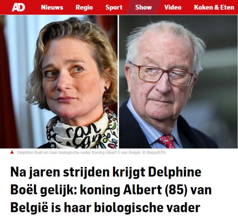 Screenshot website AD.nl: