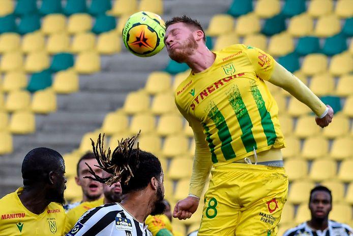 Renaud Emond était titulaire pour la troisième fois de la saison avec le FC Nantes.