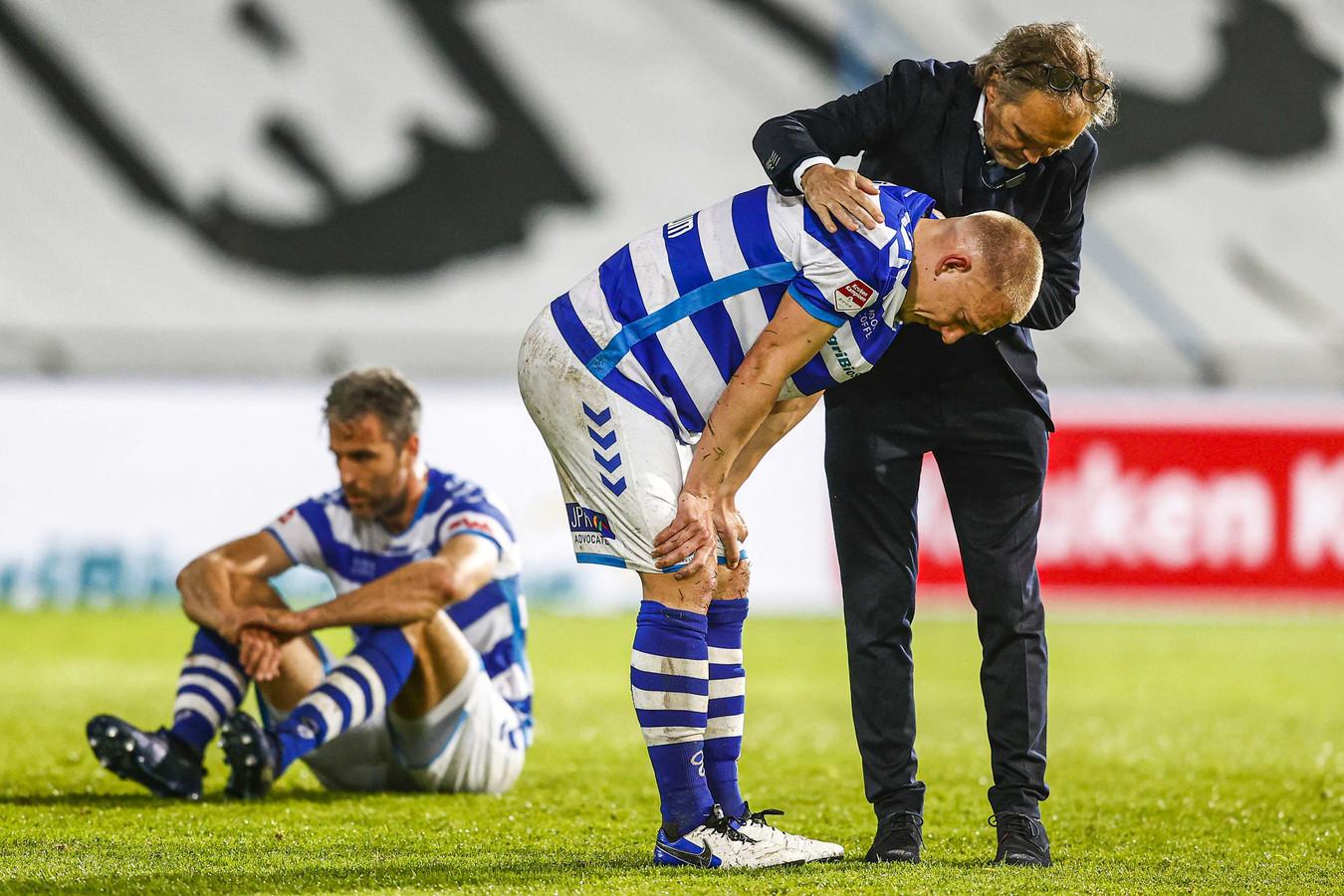 Het gelijkspel tegen Helmond Sport kwam als een mokerslag aan bij De Graafschap, dat directe promotie misliep.