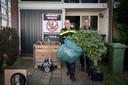 De ontruiming van een wietplantage aan de Arnhemse Houtmanlaan in 2018