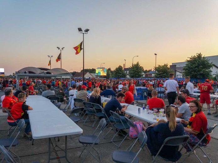 Supporteren voor de Rode Duivels met KSV Oudenaarde zal, net zoals op deze beelden van het WK in 2018, mogelijk zijn.
