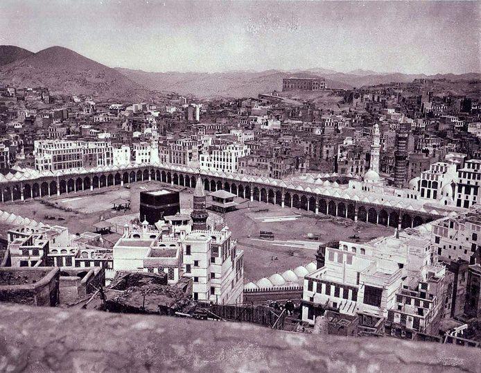 Mekka, met linksmidden de Ka'ba.