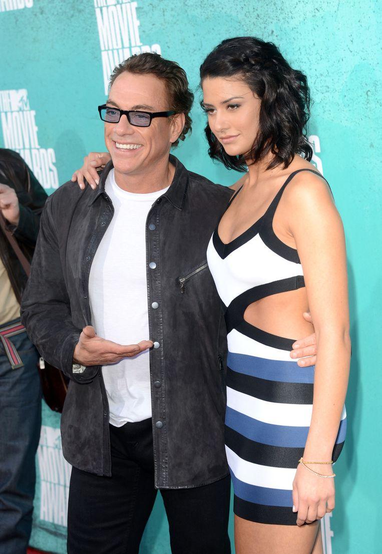 Actor Jean-Claude Van Damme & dochter Bianca Bree Beeld UNKNOWN