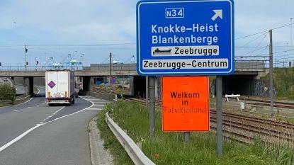 Zeebrugge? Dat is 'fabeltjesland' volgens actievoerders: ze protesteren met ludiek bord