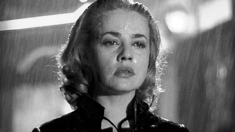 Jeanne Moreau in Ascenseur pour l'échafaud van Louis Malle. Beeld