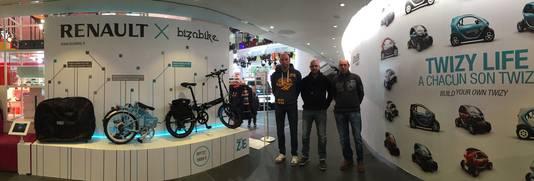 Christophe, Bjorn en Michel Branders in de Parijse showroom.