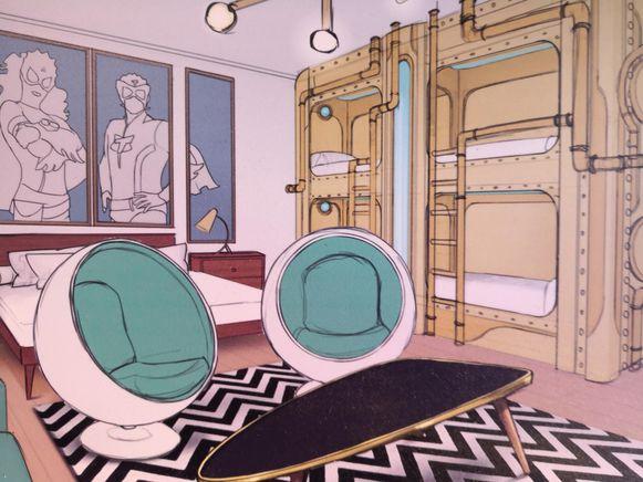 De kamer van Mega Mindy.