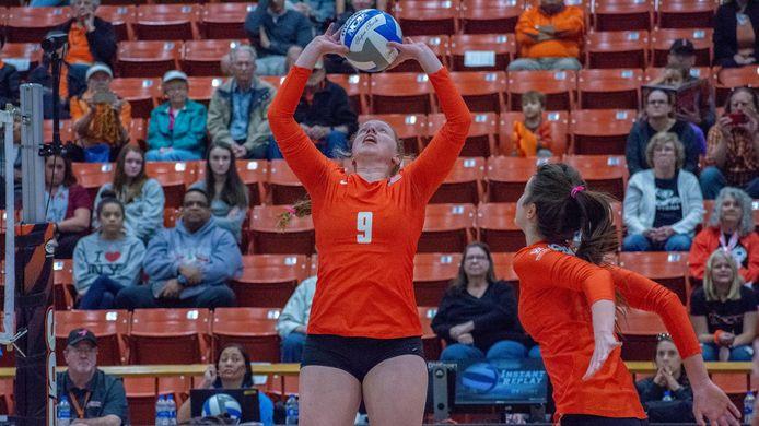 Voormalig VDK-speelster Hanne De Schrijver, hier aan de slag bij haar Amerikaanse team van de Stockton University, gaat volgend seizoen opnieuw in eigen land aan de slag bij Saturnus Michelbeke.