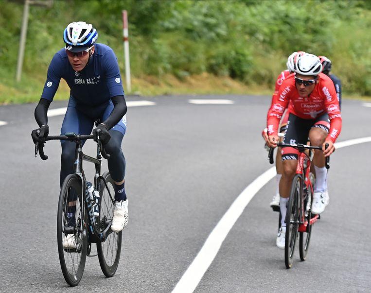 Chris Froome ploetert tijdens de 16de etappe van de Tour. Beeld Belga